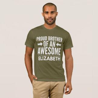 Camiseta Irmão orgulhoso de uma Elizabeth impressionante