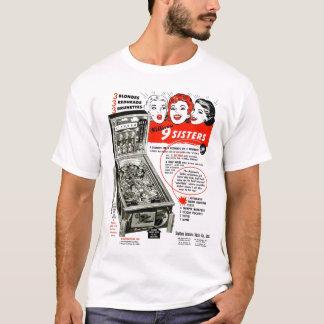 Camiseta Irmãs do anúncio 9 do Pinball do vintage
