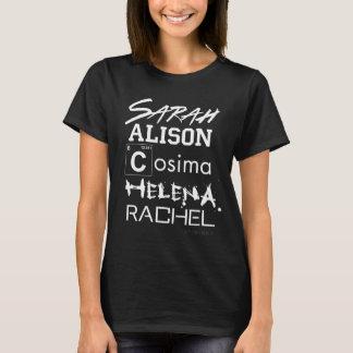 Camiseta Irmãs órfãos do clube do clone do preto |