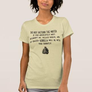 Camiseta irritadiço do escritor