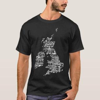 Camiseta Isles. britânicos tipográficos