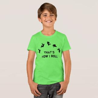 Camiseta Isso é como eu rolo o elogio de Parkour da