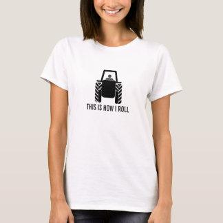 Camiseta Isto é como eu rolo o fazendeiro no trator