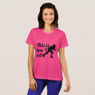 Camiseta Isto é como eu rolo, patinador de Derby do rolo