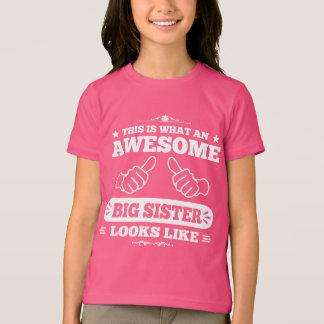 Camiseta Isto é que irmã mais velha impressionante olha