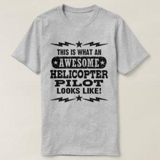 Camiseta Isto é que piloto impressionante do helicóptero
