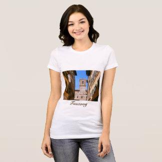 Camiseta Italia Toscânia Cortona. Cidade salão