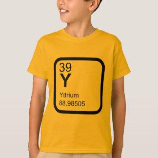 Camiseta Ítrio - design da ciência da mesa periódica