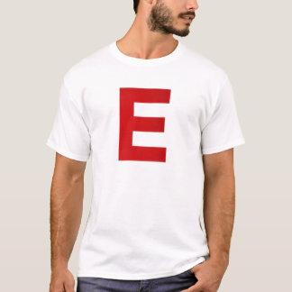 Camiseta Itz T-Merda branca e vermelha de Ethan
