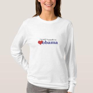 Camiseta I've obteve um esmagamento em Obama