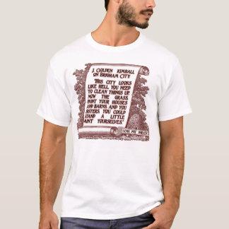 Camiseta J. Citações douradas de Kimball na cidade de