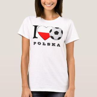 """Camiseta """"j ska love de pólo Soccer"""" futebol coração"""