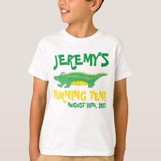 Camiseta Jacaré personalizado do jacaré do favor de festa