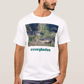 Camiseta Jacarés que basking, parque nacional dos marismas