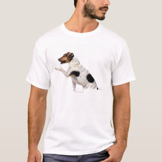 Camiseta Jack Russell Terrier que levanta a pata