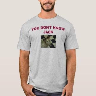 Camiseta Jack Russell Terrier, VOCÊ NÃO SABE o JAQUE
