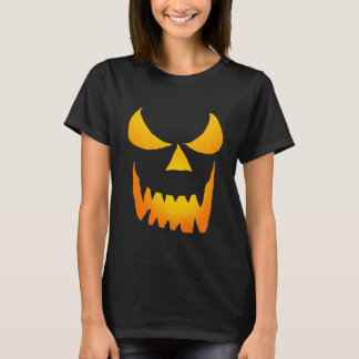 Camiseta Jackolantern de incandescência mau enfrenta