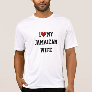 CAMISETA JAMAICA: EU AMO MINHA ESPOSA JAMAICANA