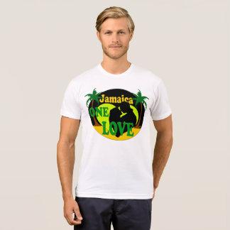 Camiseta Jamaica um t-shirt da lua de mel do por do sol do