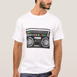 Camiseta jambox retro do dinamitador do gueto do boombox