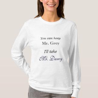Camiseta Jane Austen eu tomarei o Sr. Darcy Orgulho