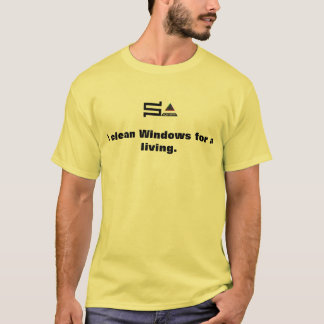 Camiseta janelas limpas do t-shirt do logotipo do sysadmin