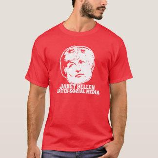 Camiseta Janet Yellen deia meios sociais
