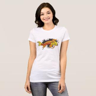 Camiseta Japonês colorido Koi