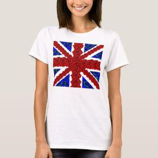 Camiseta jaque de união floral, unionjack legal, jaque de
