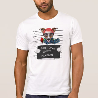 Camiseta Jaque engraçado russell, cão do Mugshot