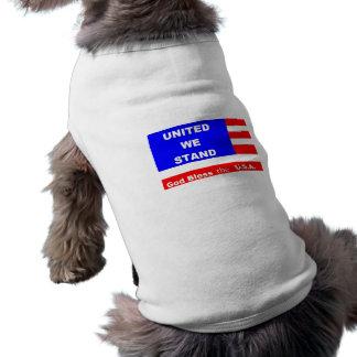 Camiseta Jaqueta da camisola do cachorrinho - deus abençoe