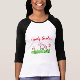 Camiseta Jardim da azeda do bastão de doces