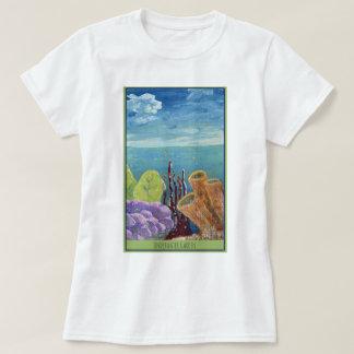 Camiseta Jardim subaquático - recife de corais - t-shirt
