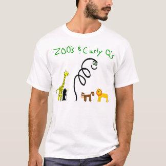 Camiseta Jardim zoológico e o T branco encaracolado do q