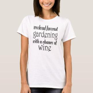 Camiseta Jardinagem prevista fim de semana e vinho