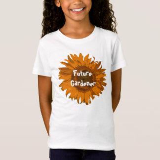 Camiseta Jardineiro alaranjado do futuro do girassol