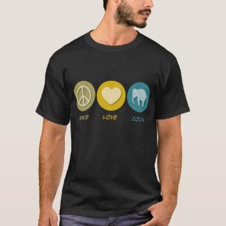 Camiseta Jardins zoológicos do amor da paz