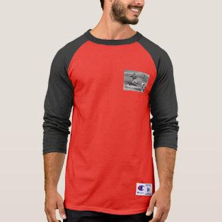 Camiseta Jarro inicial do vintage da rima do jogador de