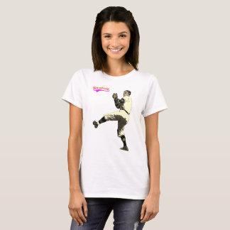 Camiseta Jarro velho do basebol do vintage do tempo