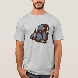 Camiseta javali selvagem logotipo