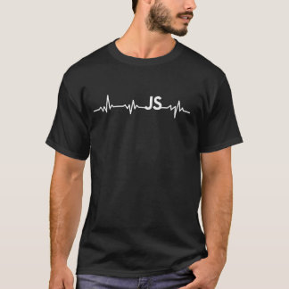 Camiseta Javascript - batimento cardíaco de JS