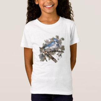 Camiseta Jay azul empoleirou-se em um t-shirt #2 do ramo