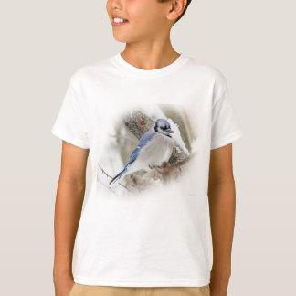 Camiseta Jay azul na neve do inverno