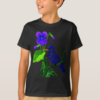 Camiseta Jay violeta e azul