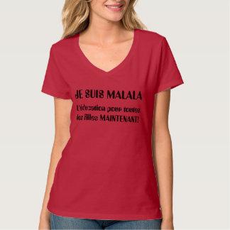 Camiseta Je Suis Malala - L'éducation derrama les Filles