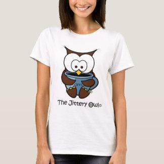 Camiseta Jeffy a caneca agitada do azul da coruja