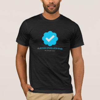 Camiseta @JenkinsJohn6 - Verificado - t-shirt preto