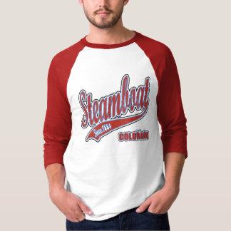 Camiseta Jérsei de basebol do Grunge do barco a vapor