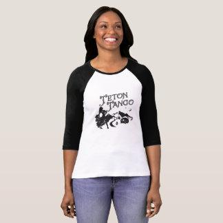 Camiseta Jérsei de basebol do tango de Teton