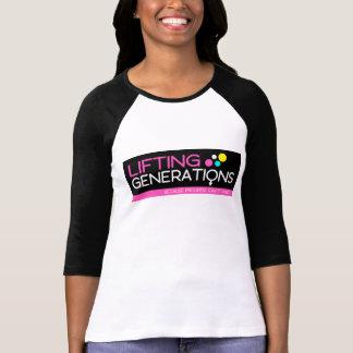 Camiseta Jérsei de levantamento do logotipo das gerações